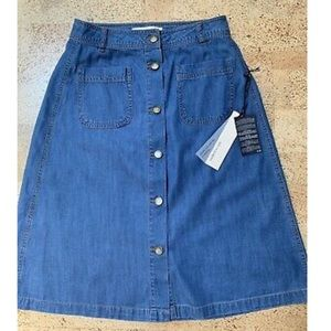 Life in Progress F21 Denim button front Skirt NWT